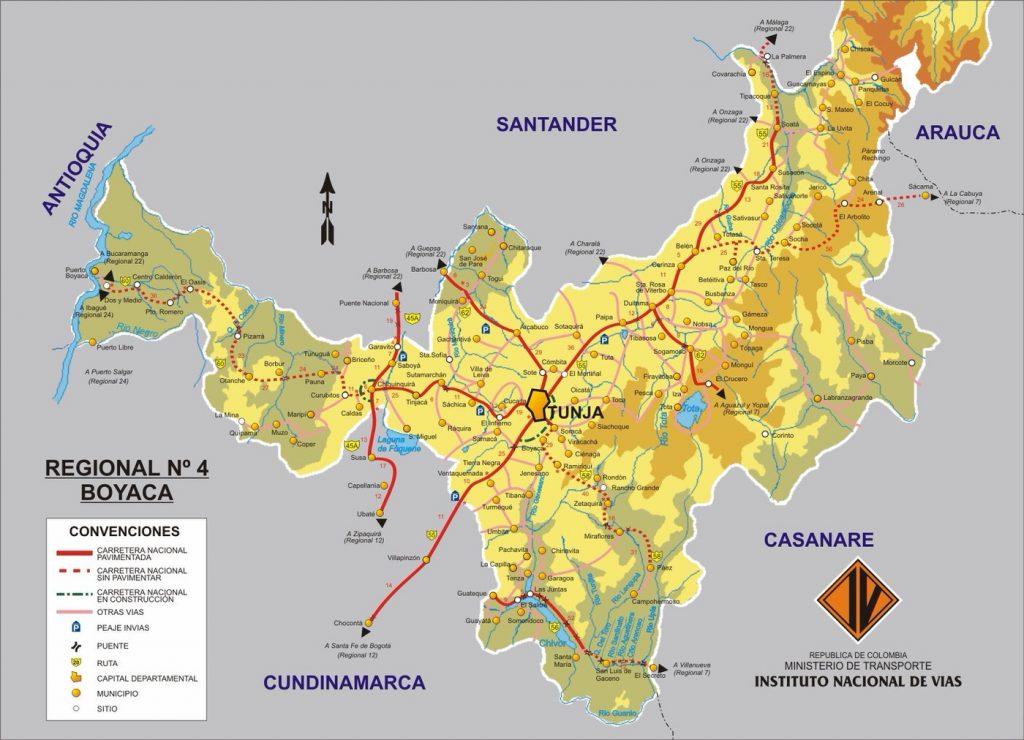 Mapa de Boyaca