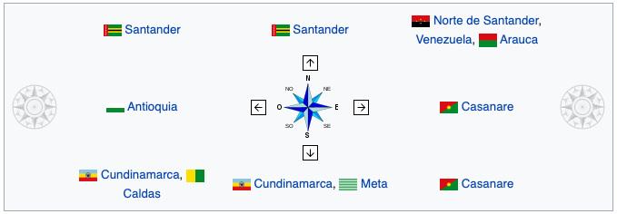 limites departamento de Boyaca